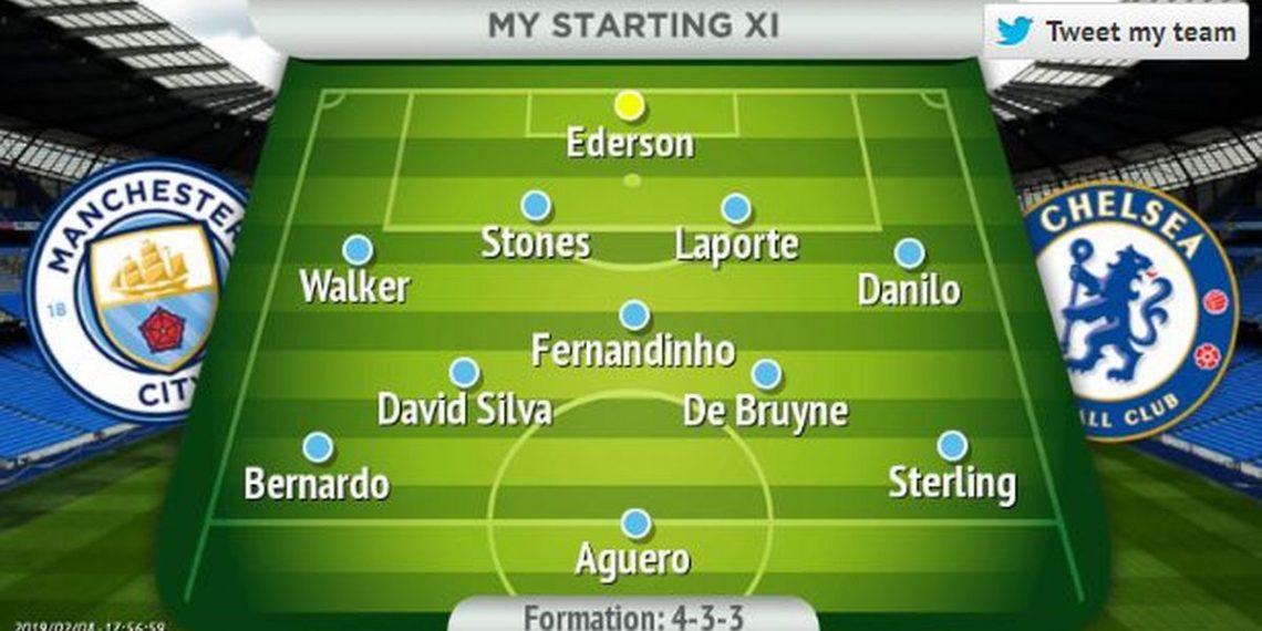Starting 11 Of Manchester Vs Chelsea